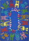 Joy Carpets Kid Essentials Musical Chairs Multi Area Rug