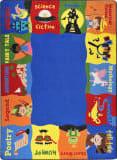 Joy Carpets Kid Essentials Read Me A Story Multi Area Rug