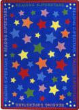 Joy Carpets Kid Essentials Reading Superstars Multi Area Rug