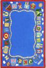 Joy Carpets Kid Essentials Reading Train Multi Area Rug
