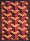 Joy Carpets Kaleidoscope Rooftop Burgundy Area Rug