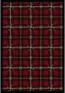 Joy Carpets Games People Play Saint Andrews Lumberjack Red Area Rug