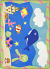Joy Carpets Kid Essentials Sea Babies Multi Area Rug