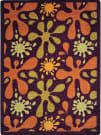 Joy Carpets Kid Essentials Splat Burgundy Area Rug