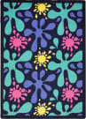 Joy Carpets Kid Essentials Splat Navy Area Rug
