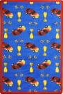 Joy Carpets Playful Patterns Start Your Engines Blue Area Rug