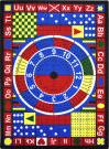 Joy Carpets Kid Essentials Teach-A-Tot Multi Area Rug