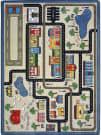 Joy Carpets Kid Essentials Tiny Town Pewter Area Rug