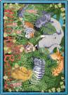 Joy Carpets Kid Essentials Wild About Books Multi Area Rug