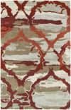 Kaleen Brushstrokes Brs02-25 Red Area Rug