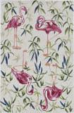 Kas Sonesta 2007 Ivory - Pink Flamingo Area Rug
