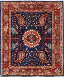 Kashee Vintage Blue - Red 4'10'' x 6'1'' Rug