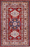 Kashee Royal Kazak Rust - Ivory 4'1'' x 6'3'' Rug