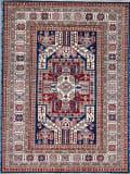 Kashee Royal Kazak Blue - Ivory 5'1'' x 6'9'' Rug