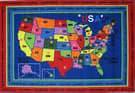Fun Rugs Fun Time State Capitals FT-184 Multi Area Rug
