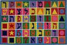 Fun Rugs Fun Time Hebrew Numbers & Letters FT-500 Multi Area Rug