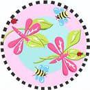 Fun Rugs Jade Reynolds Pink Dragonfly JR-TSC-011 Multi Area Rug
