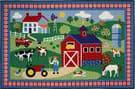 Fun Rugs Olive Kids Country Farm OLK-016 Multi Area Rug