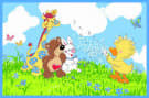 Fun Rugs Little Suzys Zoo Witzy Makes A Wish SUZ-01 Area Rug
