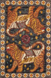 Loloi Tigress TIG-02 Charcoal - Tangerine Area Rug