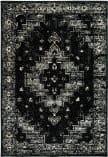 Lr Resources Infinity 81308 Black Gray Area Rug