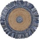 Lr Resources Natural Jute 3380 Denim Blue - Natural Area Rug