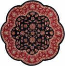 Lr Resources Shapes 10752 Black - Red Area Rug