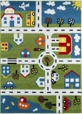 Lr Resources Whimsical 81270 Green - Cream Area Rug