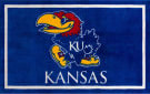 Luxury Sports Rugs Team University Of Kansas Blue Area Rug
