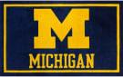 Luxury Sports Rugs Team University Of Michigan Blue Area Rug