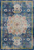 Nourison Global Vintage Glb03 Blue Area Rug