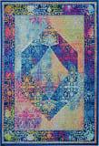 Nourison Ankara Global Anr04 Blue - Multicolor Area Rug