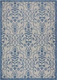 Nourison Country Side CTR04 Ivory Blue Area Rug