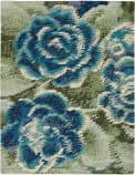Nourison Impressionist Impr1 Green Blue Area Rug
