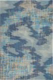 Nourison Symmetry Smm08 Blue - Beige Area Rug