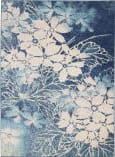 Nourison Tranquil Tra08 Navy - Pink Area Rug