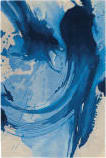 Nourison Symmetry Smm01 Blue - Ivory Area Rug
