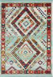 Nourison Navajo Nav02 Aqua Area Rug