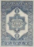 Nourison Persian Vintage Prv01 Ivory Blue Area Rug