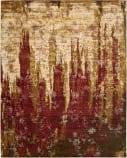 Nourison Rhapsody Rh006 Gold Garnet Area Rug