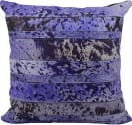 Nourison Pillows Natural Leather Hide S1975 Purple