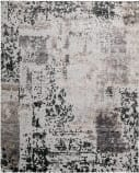 Nourison Silk Shadows Sha16 Silver - Grey Area Rug