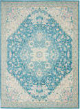 Nourison Tranquil Tra07 Ivory - Turquoise Area Rug