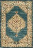 Nourison Traditional Antique Trq03 Teal - Blue Area Rug
