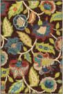 Orian Veranda Ethridge Brown Area Rug