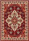Oriental Weavers Lilihan 5502C Red - Ivory Area Rug