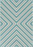 Oriental Weavers Riviera 4589J Teal Blue Area Rug
