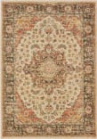 Oriental Weavers Toscana 9551A Ivory - Orange Area Rug