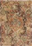 Oriental Weavers Toscana 9555B Charcoal - Orange Area Rug