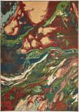 Oriental Weavers Dawson 8337b Rust - Teal Area Rug